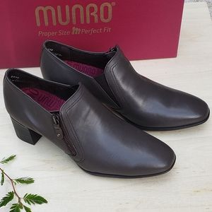 Munro Brown Leather Booties Shoes
